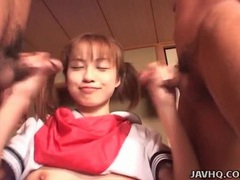 Spit roasted japanese schoolgirl slut tubes at japanese.sgirls.net