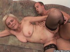 Grandma knows best how to drain your balls movies at lingerie-mania.com