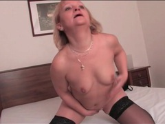 Stout mature blonde in black stockings videos