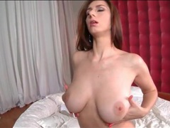 Girl fondles her big natural tits sensually videos
