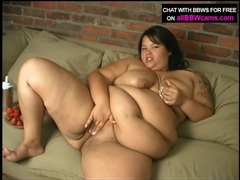 Fat girl rubs whipped cream into her big tits videos