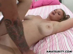 Busty amateur girlfriend action with cum in mouth movies at lingerie-mania.com