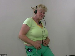 Chubby grandma does strip in home gym movies at sgirls.net