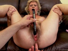 Hairy granny fingered and fucked in her cunt movies at find-best-hardcore.com