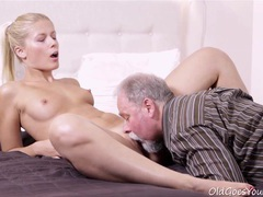 Elena fucked old guy after he licked her cunt movies at sgirls.net