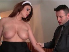 French maid emma leigh sucks dick and fucks videos