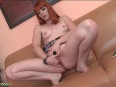 Redhead finger fucks her gorgeous pussy movies at adipics.com