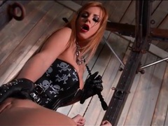Mistress has a cute chained girl in her dungeon videos