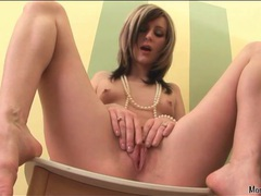 Skinny tattooed girl fingers her beautiful cunt movies at find-best-videos.com