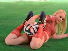 Sexy blonde lola taylor in painted on uniform videos