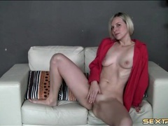 Blonde camgirl in sexy leopard print panties movies at adspics.com