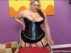 Blonde bbw in corset and panties sits on his face videos