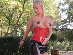 Latex is sexy on kinky girl outdoors videos