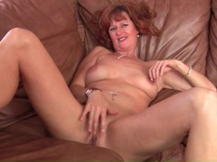 Naked solo mature redhead masturbates pussy movies at find-best-mature.com