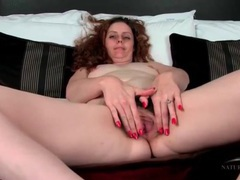 Curly hair milf has gorgeous pubic hair movies at lingerie-mania.com