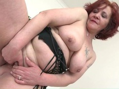 Old lady with red hair masturbates her pussy movies at kilogirls.com