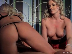 Breathtaking blonde beauties blow blindfolded guy movies at find-best-pussy.com