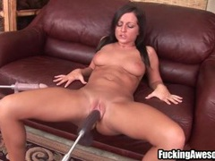 Dildo machine fucks her bald pussy deep movies at find-best-hardcore.com