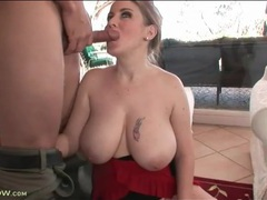 Incredible curves and huge tits on cocksucking milf videos