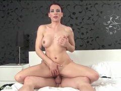 Big titty redhead mom sucks on a cock videos