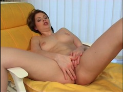 Seductress drops her robe and masturbates sensually movies at find-best-lingerie.com