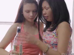 Nastya make out with her asian friend and horny guy tubes at korean.sgirls.net