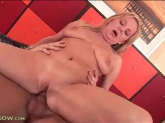 Tight shaved milf pussy rides his cock videos