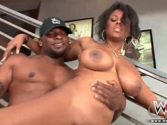 Big ass black girl strips off panties and fucks videos
