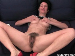 Older women soaking their cotton panties with pussy juice movies at adipics.com