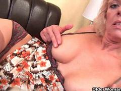 Grandma craves an intense orgasm videos