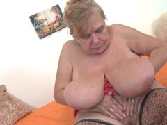 Chubby granny sucks on her nipples videos