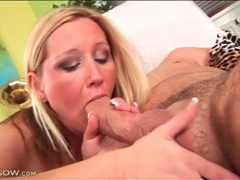 Blonde sits tight vagina on his hard dick movies at lingerie-mania.com