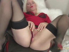 Blonde milf amber jewell in seamed stockings movies at find-best-panties.com