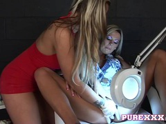 Purexxxfilms naughty oral check up movies at lingerie-mania.com