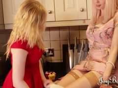 Joybear two horny blondes fucking each other movies at find-best-mature.com