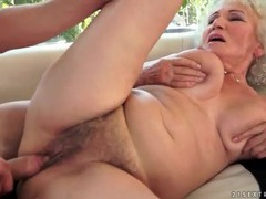 Granny groped and fucked in her hot box videos