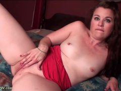 Cute solo mom with small tits masturbates in bed movies at kilopics.com