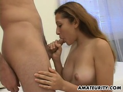 Beautiful amateur girlfriend sucks and fucks with facial videos