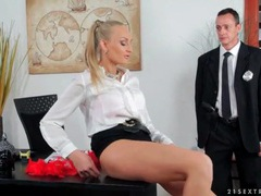 Cop eats out lusty pussy in the office movies