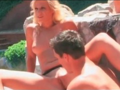 Sunny day blowjob from blonde by the pool movies at freekilopics.com
