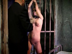 Naked girl on a leash fondled by her man tubes