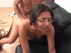 Big dick fucks cute nerdy girl in the cunt movies at kilopics.net