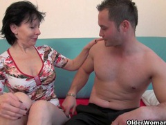 Grandma's new toy boy gets sucked and fucked movies at adipics.com