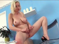 Beautiful big tits on masturbating blonde girl videos