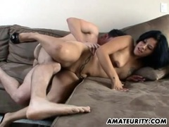Amateur couple doign it in the living room with facial movies at find-best-ass.com