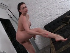 Aletta ocean showers and lotions up her legs movies at find-best-pussy.com