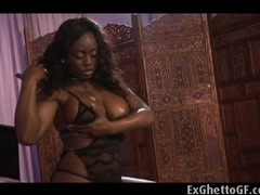 One black chick and two huge white dicks videos