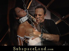Nasty slave, tamed with a lesson of terror in bdsm movies at find-best-lesbians.com