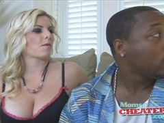 Perfect blonde hair on milf sucking black cock videos