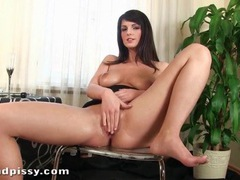 Busty babe uses her piss as lube for masturbation movies at find-best-pussy.com